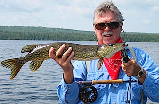 Great Fly Fishing at Fireside Lodge for Northern Pike by Tom
